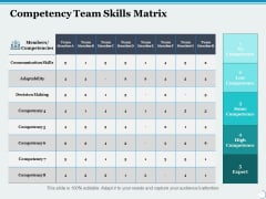 Competency Team Skills Matrix Ppt PowerPoint Presentation Samples