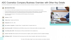 Competition ADC Cosmetics Company Business Overview With Other Key Details Template PDF