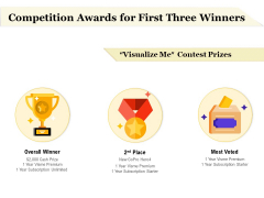 Competition Awards For First Three Winners Ppt PowerPoint Presentation Layouts Brochure PDF