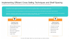 Competition Implementing Efficient Cross Selling Techniques And Shelf Spacing Brochure PDF