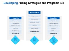 Competition In Market Developing Pricing Strategies And Programs Private Plan Ppt Slides Visual Aids PDF