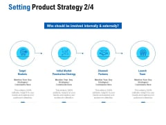 Competition In Market Setting Product Strategy Target Markets Ppt Slides Clipart Images PDF