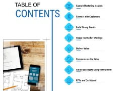 Competition In Market TABLE OF CONTENTS Ppt Portfolio Sample PDF Ppt Slide PDF