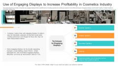 Competition Use Of Engaging Displays To Increase Profitability In Cosmetics Industry Demonstration PDF