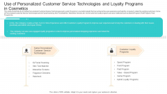 Competition Use Of Personalized Customer Service Technologies And Loyalty Programs In Cosmetics Download PDF