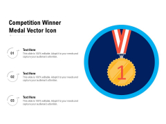Competition Winner Medal Vector Icon Ppt PowerPoint Presentation Gallery Ideas PDF