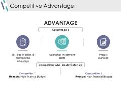 Competitive Advantage Ppt PowerPoint Presentation Infographics Deck