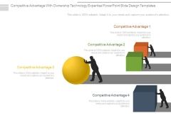 Competitive Advantage With Ownership Technology Expertise Powerpoint Slide Design Templates