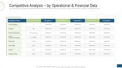 Competitive Analysis By Operational And Financial Data Ppt Outline Graphics Example PDF