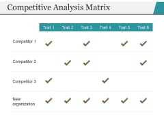 Competitive Analysis Matrix Ppt PowerPoint Presentation Layouts Background Image
