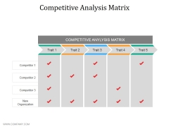 Competitive Analysis Matrix Ppt PowerPoint Presentation Show Designs Download