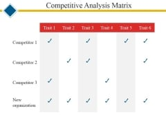 Competitive Analysis Matrix Ppt PowerPoint Presentation Show Graphics Tutorials