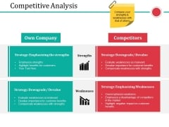 Competitive Analysis Ppt PowerPoint Presentation Model Skills