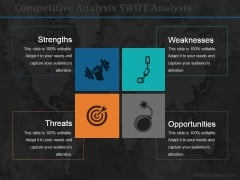Competitive Analysis Swot Analysis Ppt PowerPoint Presentation Gallery Templates