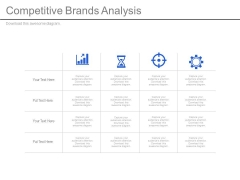 Competitive Brands Analysis Ppt Slides