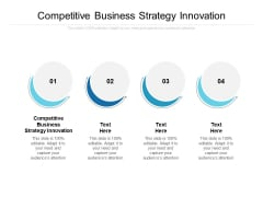 Competitive Business Strategy Innovation Ppt PowerPoint Presentation Gallery Example Cpb