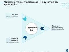 Competitive Intelligence Frameworks Opportunity Size Triangulation 3 Way To View An Opportunity Graphics PDF