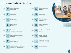 Competitive Intelligence Frameworks Presentation Outline Slides PDF