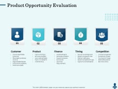 Competitive Intelligence Frameworks Product Opportunity Evaluation Infographics PDF