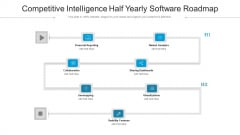 Competitive Intelligence Half Yearly Software Roadmap Portrait