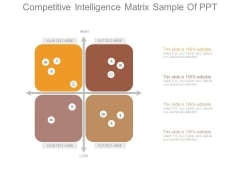 Competitive Intelligence Matrix Sample Of Ppt