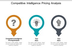 Competitive Intelligence Pricing Analysis Ppt PowerPoint Presentation Infographics Good Cpb