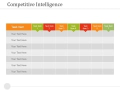 Competitive Intelligence Template 2 Ppt PowerPoint Presentation Outline Infographics