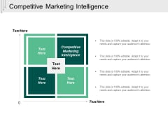 Competitive Marketing Intelligence Ppt Powerpoint Presentation Outline Demonstration Cpb