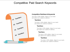 Competitive Paid Search Keywords Ppt PowerPoint Presentation Pictures Deck Cpb