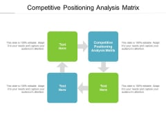 Competitive Positioning Analysis Matrix Ppt PowerPoint Presentation Infographics Show Cpb