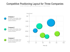 Competitive Positioning Layout For Three Companies Ppt PowerPoint Presentation Icon Professional PDF