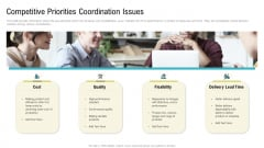 Competitive Priorities Coordination Issues Ppt Styles Icon PDF