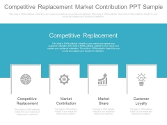 Competitive Replacement Market Contribution Ppt Sample