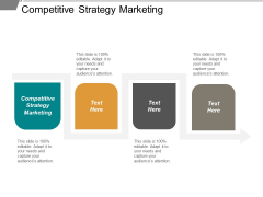 Competitive Strategy Marketing Ppt PowerPoint Presentation Layouts Icon