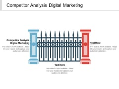 Competitor Analysis Digital Marketing Ppt PowerPoint Presentation Infographics Vector Cpb