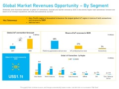 Competitor Analysis Global Market Revenues Opportunity By Segment Ppt Slides Portrait PDF
