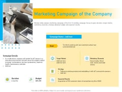Competitor Analysis Marketing Campaign Of The Company Ppt Infographics Portfolio PDF