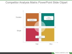 Competitor Analysis Matrix Powerpoint Slide Clipart