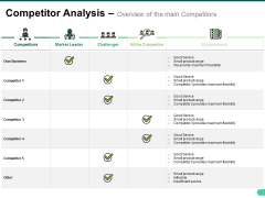 Competitor Analysis Overview Of The Main Competitors Ppt PowerPoint Presentation Outline Portfolio