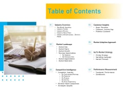 Competitor Analysis Table Of Contents Ppt Icon Design Ideas PDF