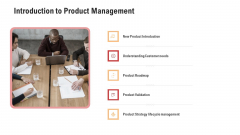 Competitor Assessment In Product Development Introduction To Product Management Diagrams PDF
