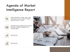Competitor Intelligence Research And Market Intelligence Agenda Of Market Intelligence Report Elements PDF