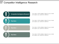Competitor Intelligence Research Ppt PowerPoint Presentation Show Backgrounds Cpb