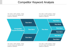 Competitor Keyword Analysis Ppt PowerPoint Presentation Infographics Influencers Cpb
