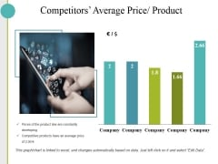 Competitors Average Price Product Ppt PowerPoint Presentation Inspiration Templates