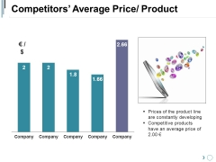 Competitors Average Price Product Ppt PowerPoint Presentation Summary Deck