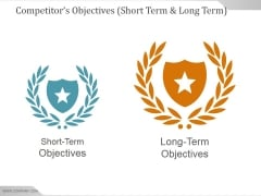 Competitors Objectives Short Term And Long Term Ppt PowerPoint Presentation Deck