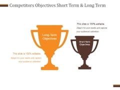 Competitors Objectives Short Term And Long Term Ppt PowerPoint Presentation Designs