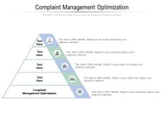 Complaint Management Optimization Ppt PowerPoint Presentation Styles Good Cpb Pdf