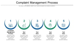 Complaint Management Process Ppt PowerPoint Presentation Slides Example Cpb Pdf